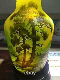 Very beautiful. Emile Galle cameo glass vase