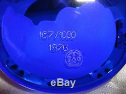 Vintage 1976 167/1000 Mount Rushmore Cameo Glass Crystal Baccarat Paperweight