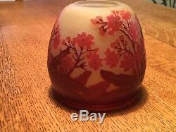 Vintage Galle Maroon Cameo 3 1/2 Vase