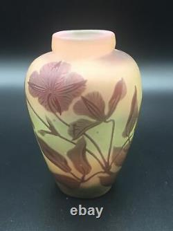 Vintage Galle with Star Floral Cabinet Cameo Vase