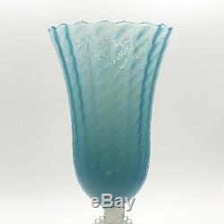 Vintage Italian Mid Century Empoli Opalescent Modern Art Glass Cameo Vase Murano